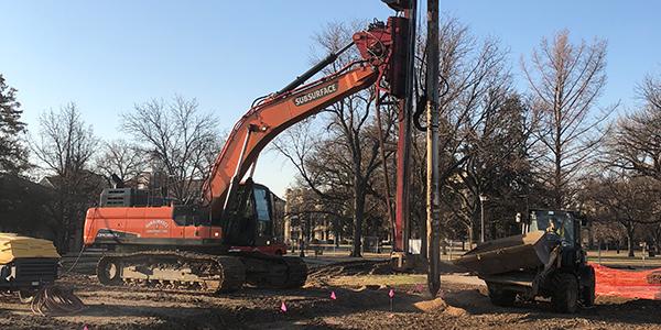 Fort Hays State University Art & Design building ground improvement