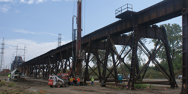 Merchants Bridge deep foundation